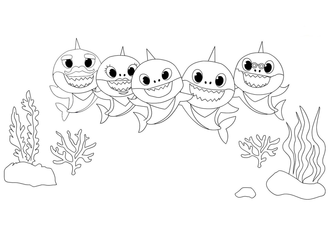 Baby Shark And Pinkfong Coloring Pages Print Free