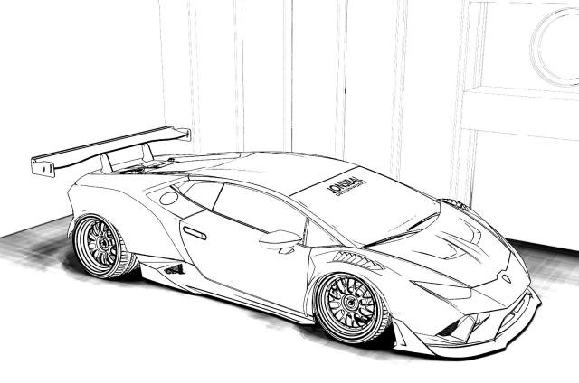 Lamborghini coloring pages - 15 Printable coloring pages