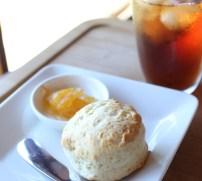 Tea with handmade scone at Seikantei's cafe