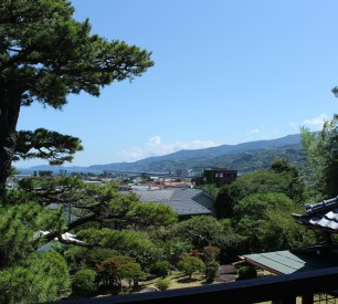 View from Seikantei's second floor