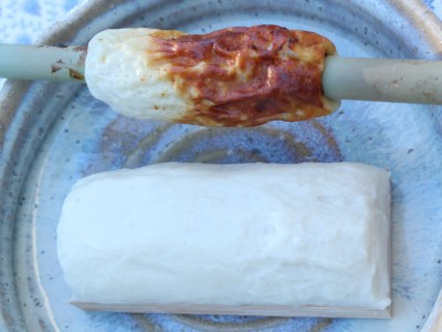 Baked and steamed fish paste