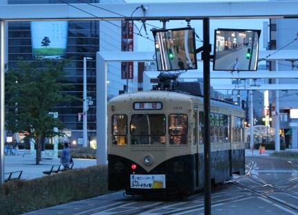 Toyama Station's tram