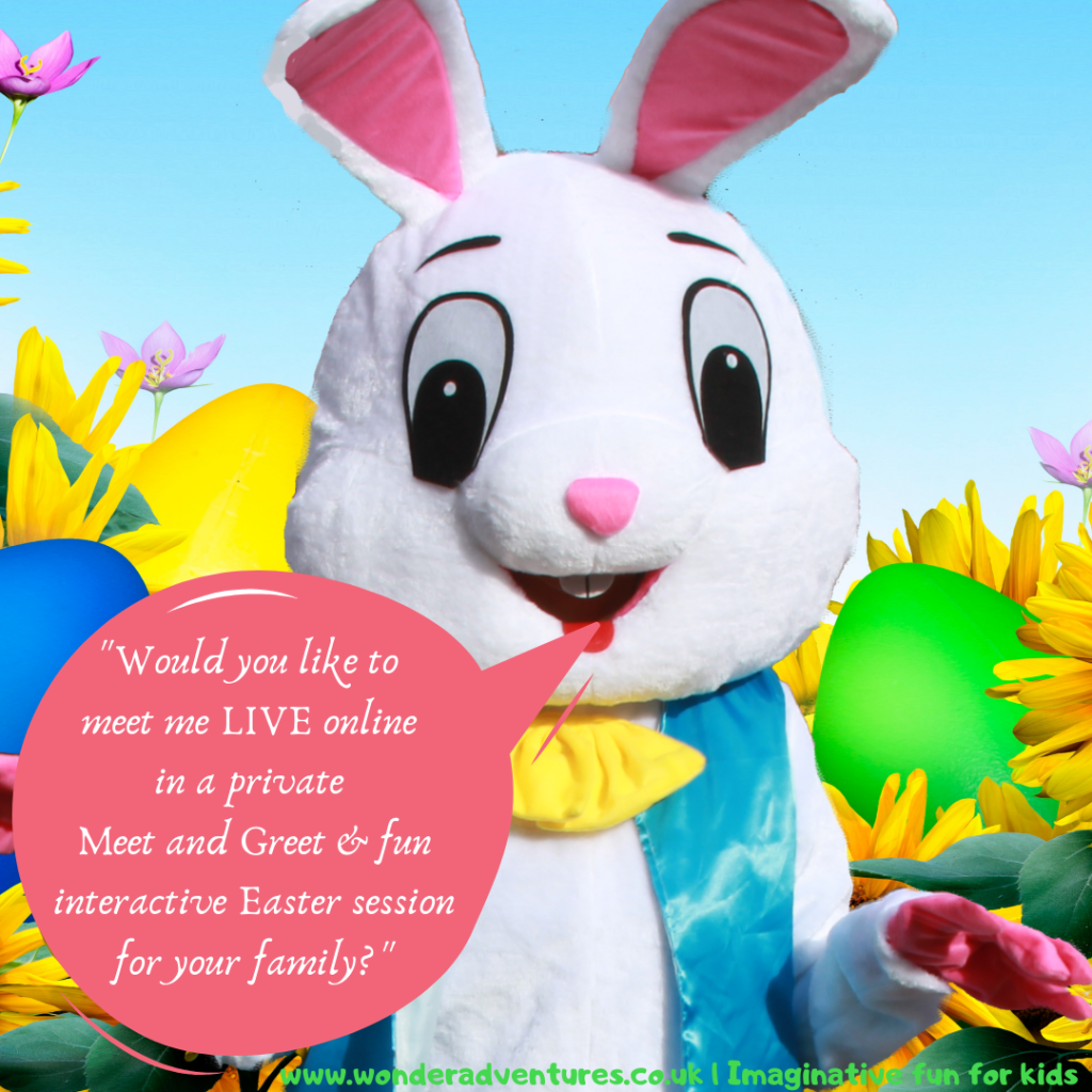 Easter bunny private online meet