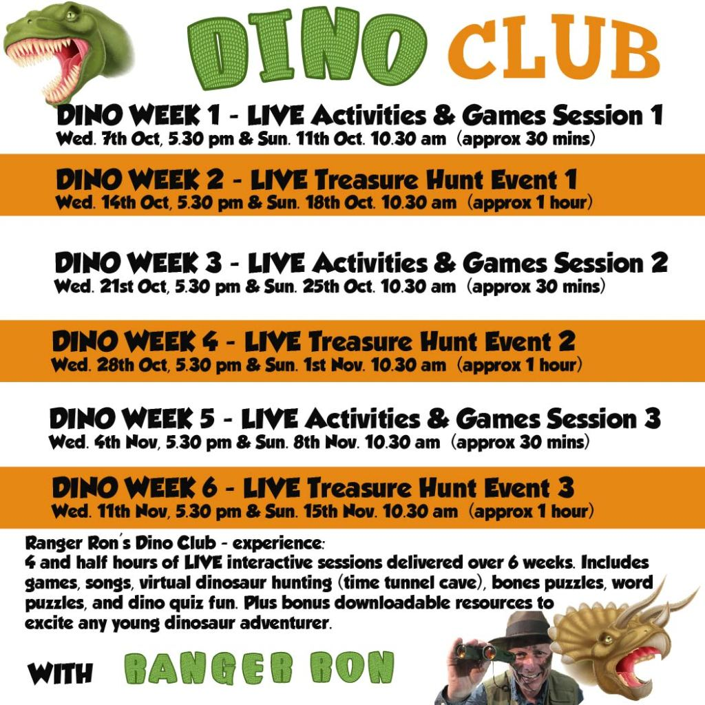 dino club event schedule