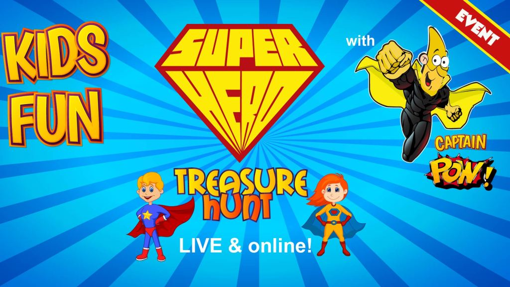 super hero event online for kids