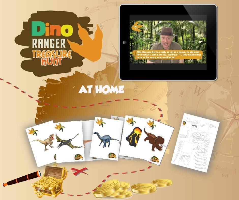 dinosaur treasure hunt for kids
