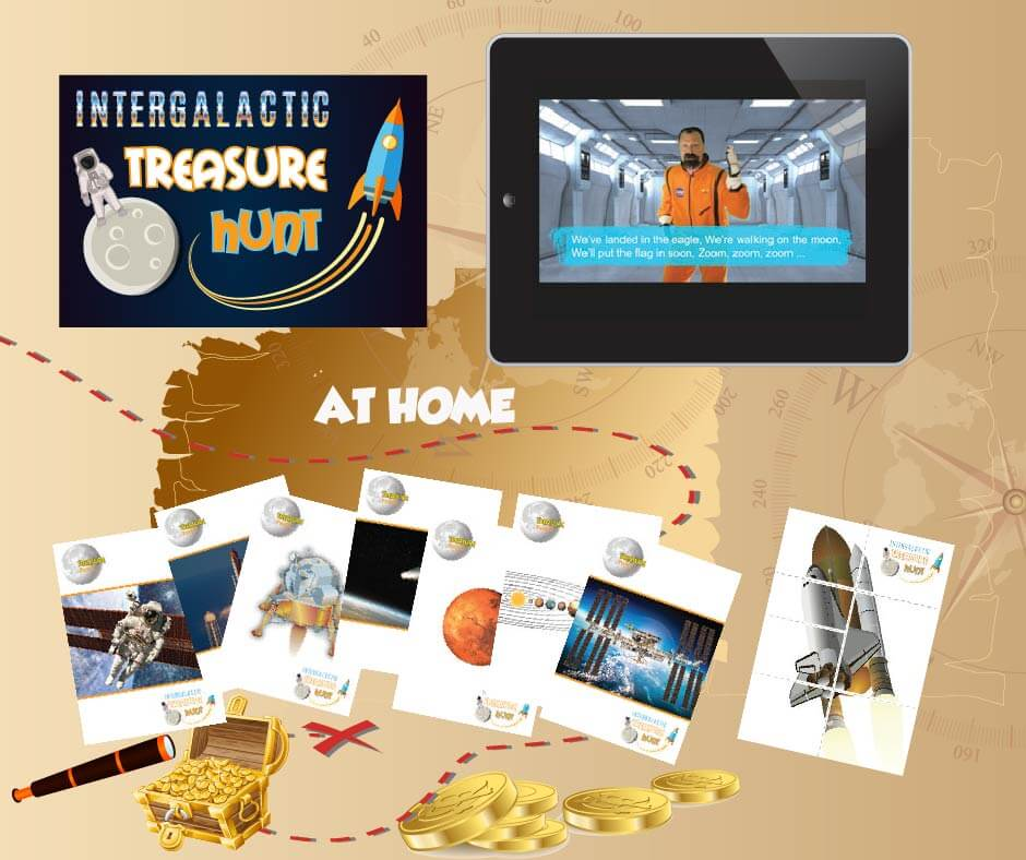 space treasure hunt activity for kids