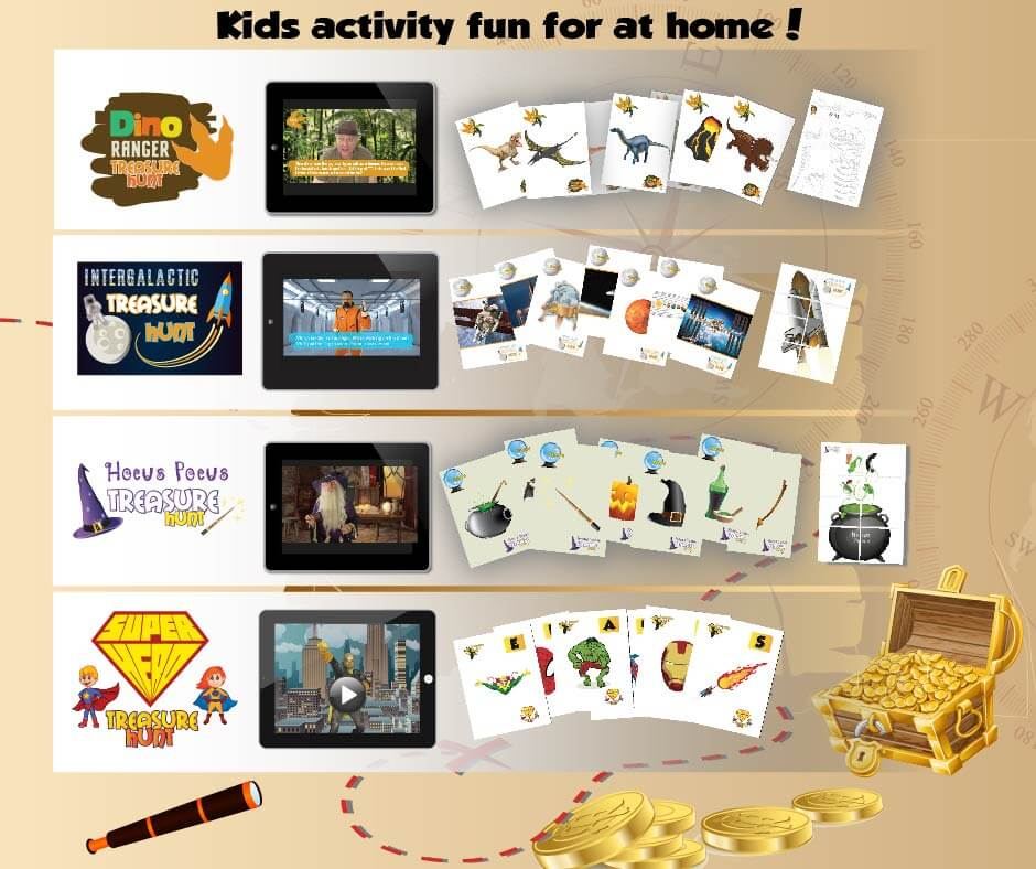 kids activity treasure hunt packs