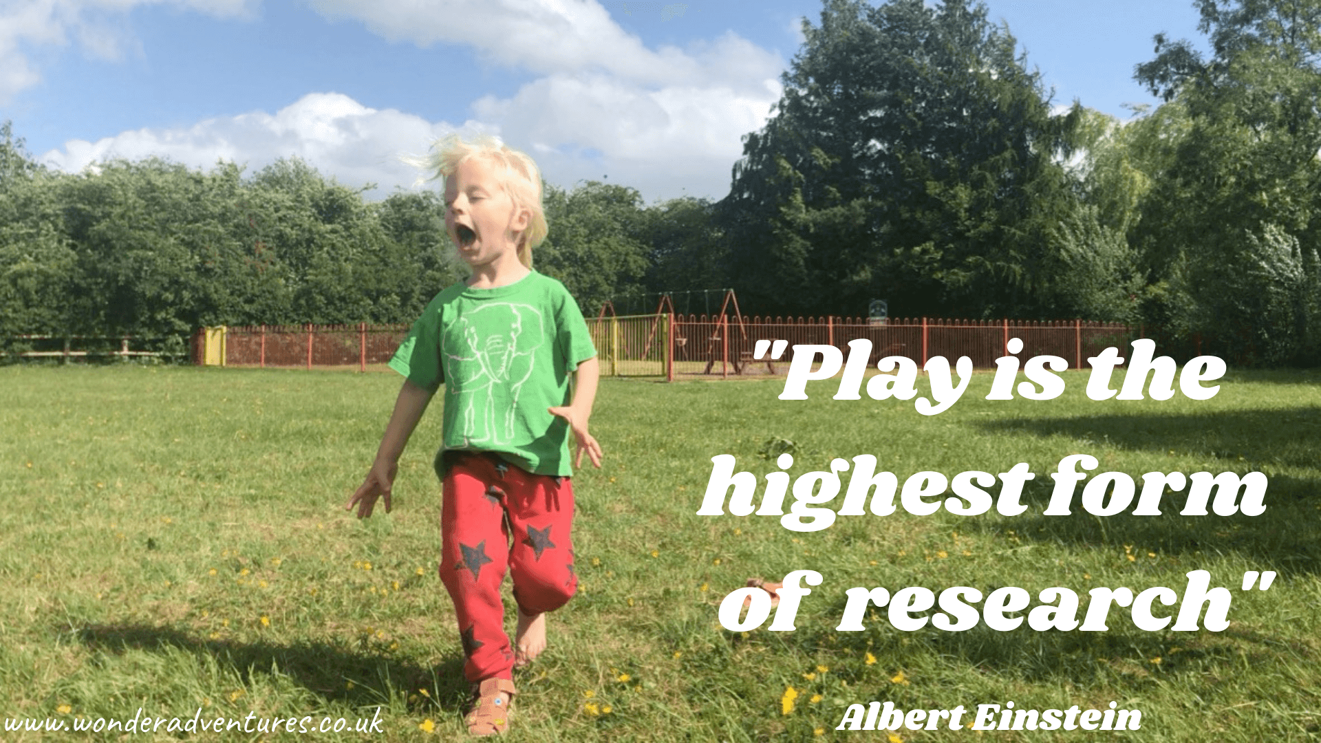 play is research albert einstein quote