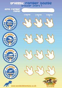 dino club triassic badge sheet