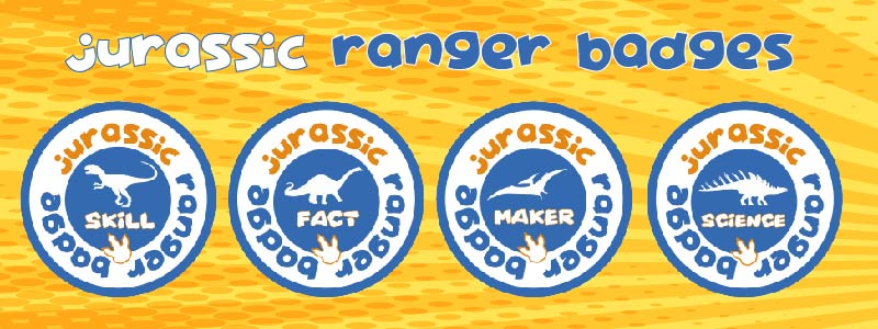 dino club badge scheme jurassic