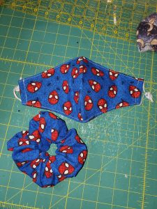 Spiderman Floating Heads Blue