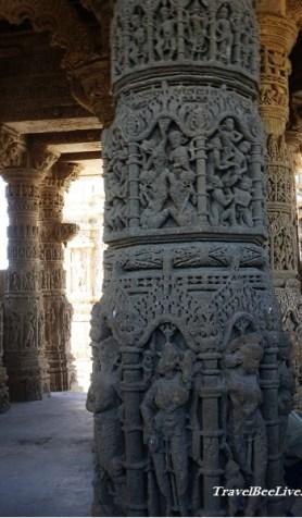 Close up of Pillar at sun temple Modhera