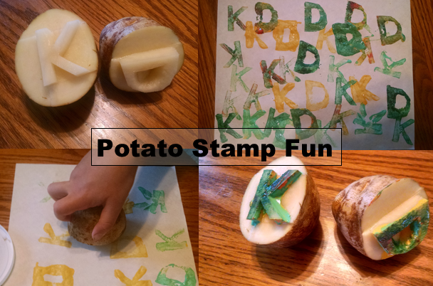 Potato Stamp Art