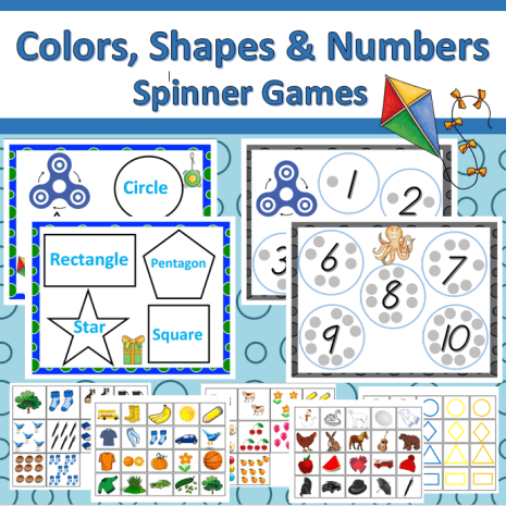 Colors, Shapes and Numbers Preschool Educational Games