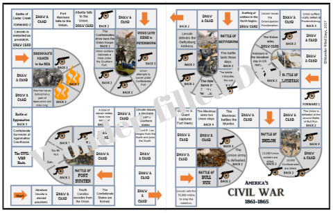 Civil War File Folder Game