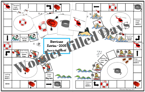 Hurricane Katrina Printable Game Board