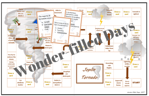 Joplin Tornado Printable Game Board