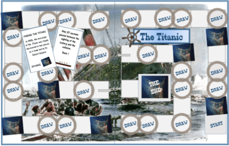Titanic Printable History Board Game