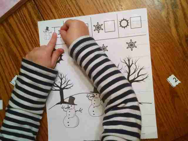 Preschool Cut and paste Number Activity
