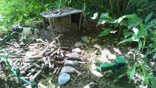 Miniature outdoor village