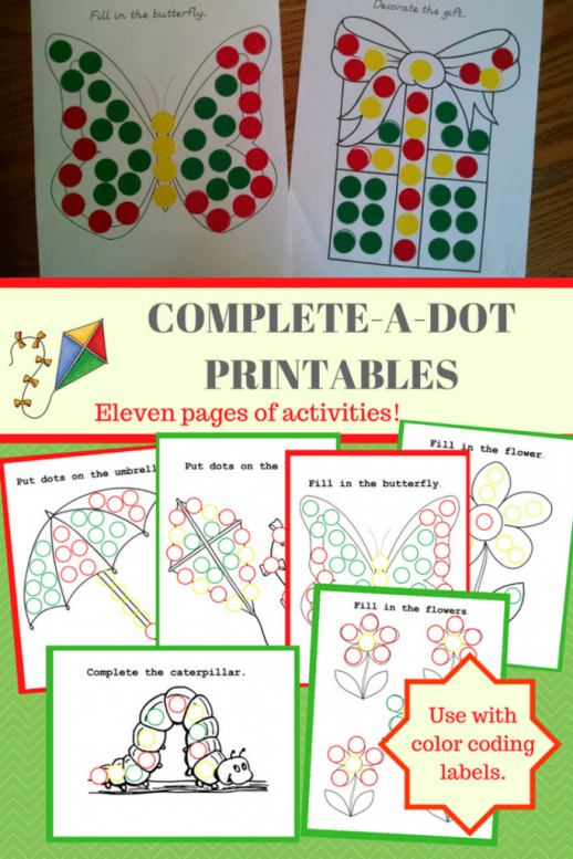 Complete a Dot Printable Activities