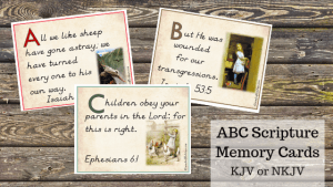 NKJV ABC Scripture Memory Flashcards