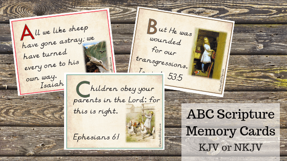 NKJV ABC Scripture Memory Flashcards