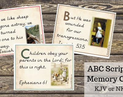 KJV ABC Scripture Memory Cards