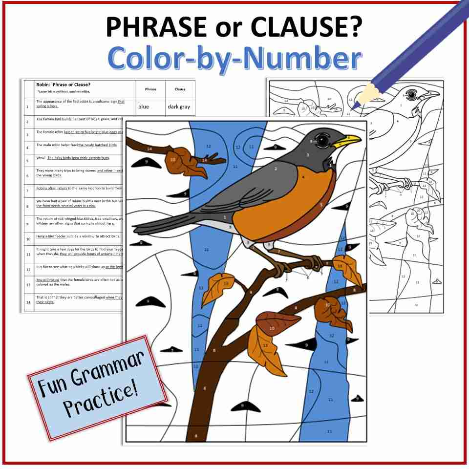 Phrase or Clause Color-by-Number