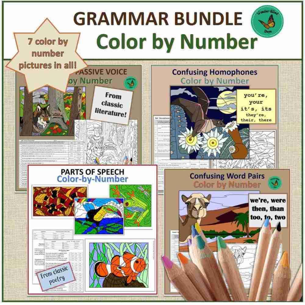 Color by Number Grammar Bundle