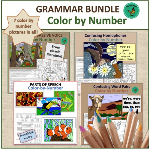 Color by Number Grammar Bundle