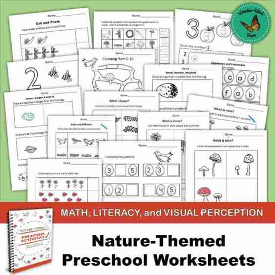 Nature-Themed Preschool Worksheets1