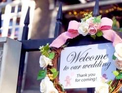 結婚式場玄関