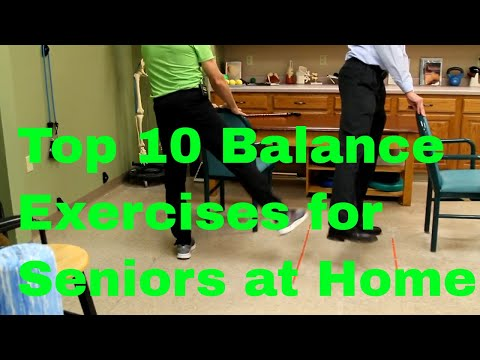 Top 10 Balance Exercises for Seniors at Home. STOP FALLS.