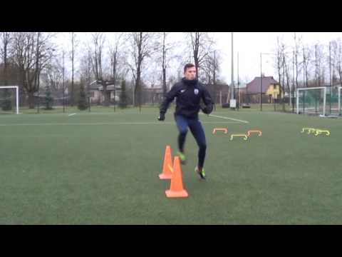 Individual football training • Speed, Reaction, Agility, Coordination, Finishing (HD)