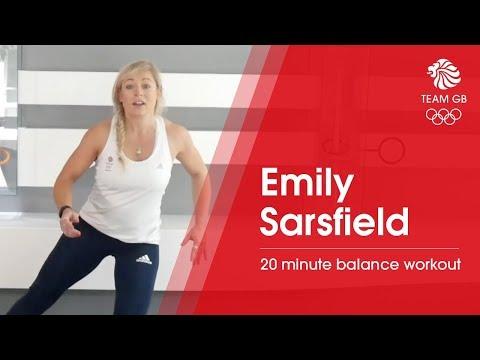Emily Sarsfield balance workout | Workout Wednesday