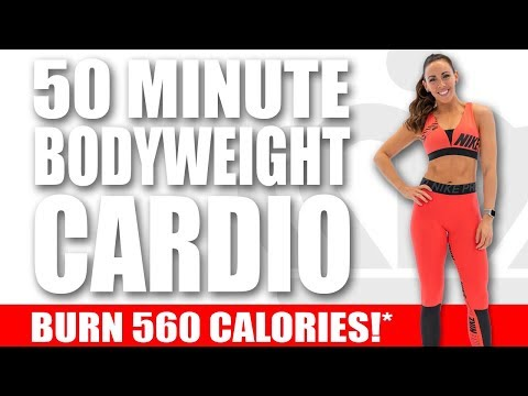 50 Minute BODYWEIGHT CARDIO WORKOUT! 🔥Burn 560 Calories!* 🔥Sydney Cummings