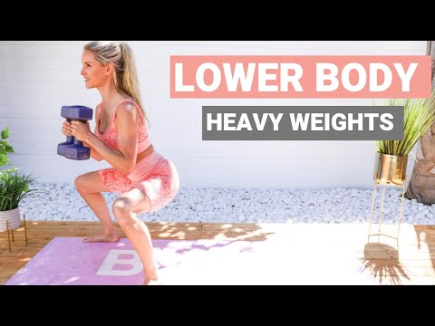 LOWER BODY workout with WEIGHTS – best exercises for BUTT & LEGS | Rebecca Louise