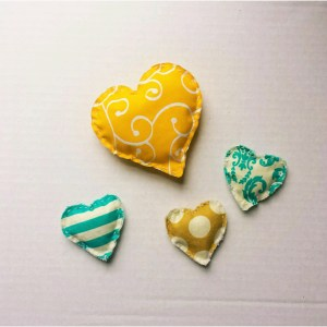 Mini Heart Pillows 2