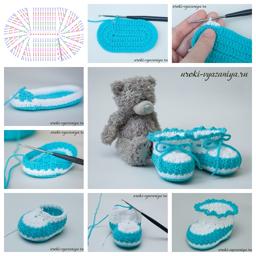 Knitted Baby Ugg Booties