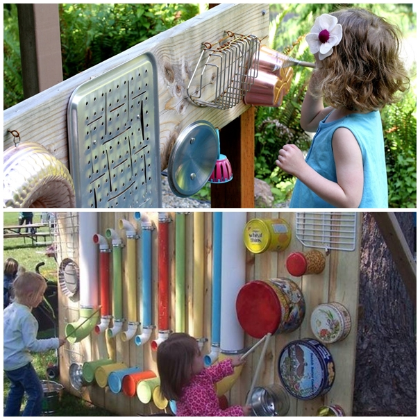 Wonderful DIY Outdoor Music Wall Station For Kids