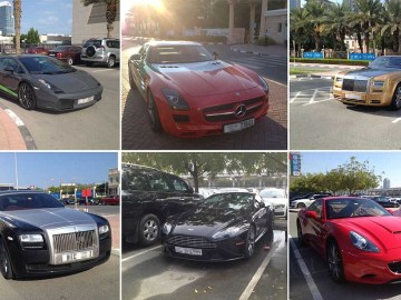 Student cars at the American University of Dubai - 16 Dec 2013