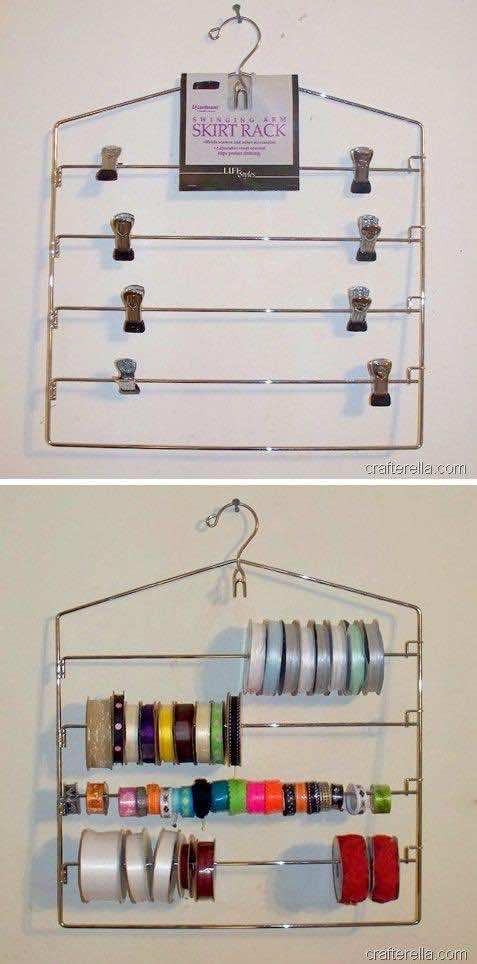8. Organized Ribbon Storage