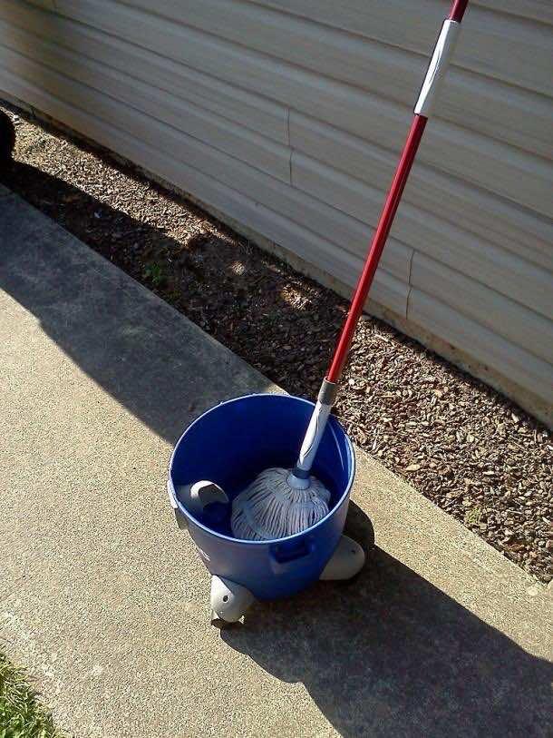 8. Shop vacs Equals rolling mop buckets