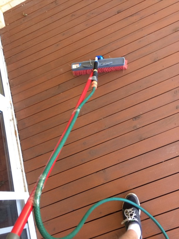 9. Deck Cleaned without Power Washer