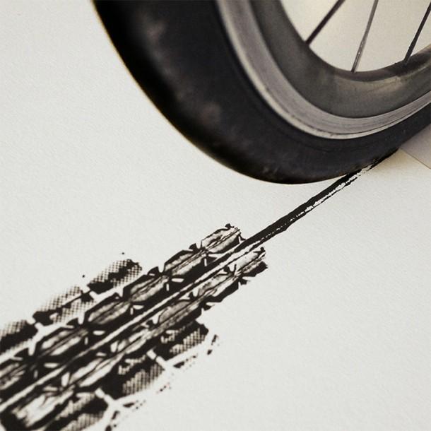 Bicycle Tire Art – 100 Copies4