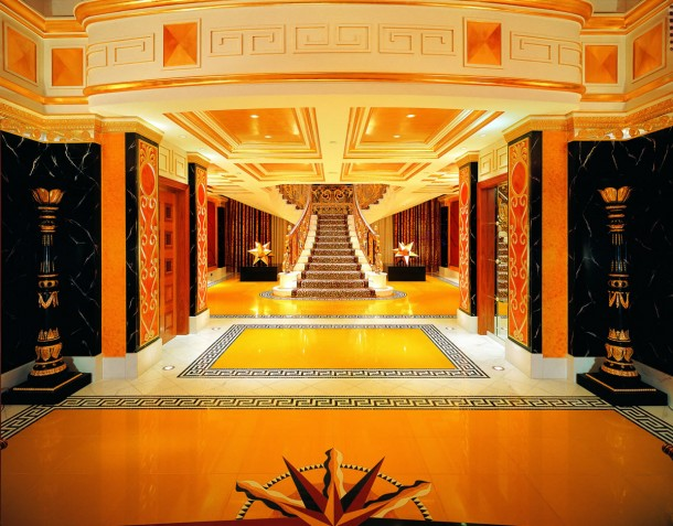 Burj Al Arab inside gold