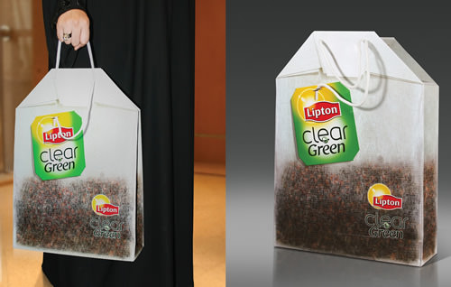 Shopping bag teabag