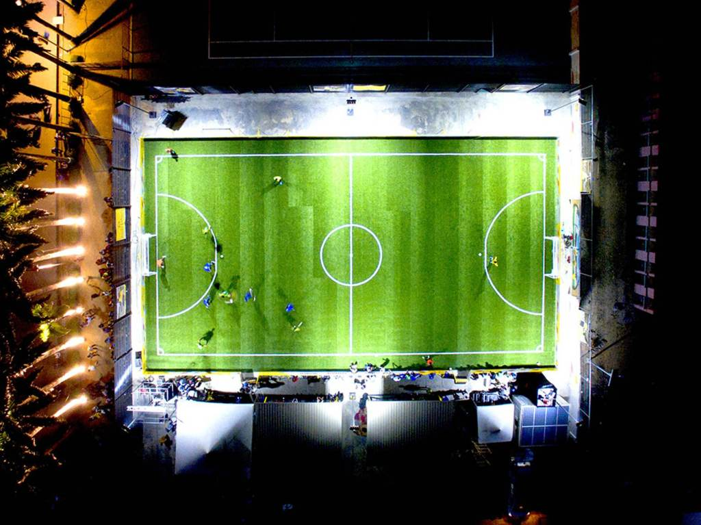 Running On This Pitch Powers The Floodlights